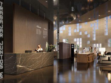 oficinas Zonas sociales Torre Glorias Barcelona