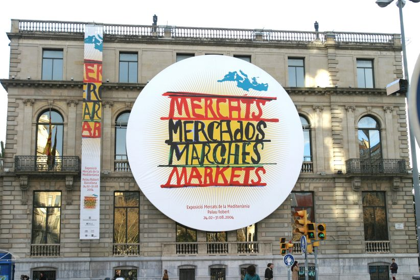 efímeros Mercats de la Mediterranea. Palau Robert Barcelona